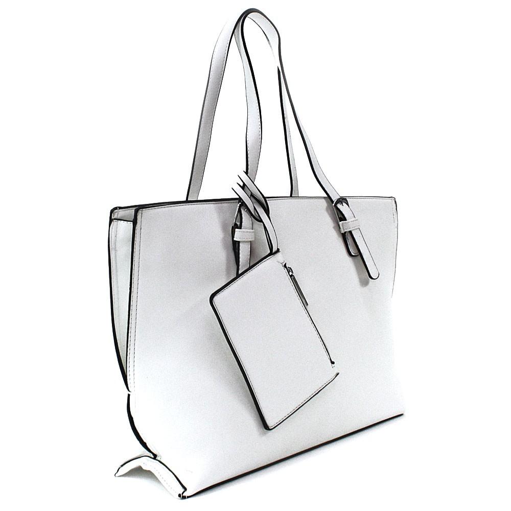Bílý dámský kabelkový set 2v1 Fifine
