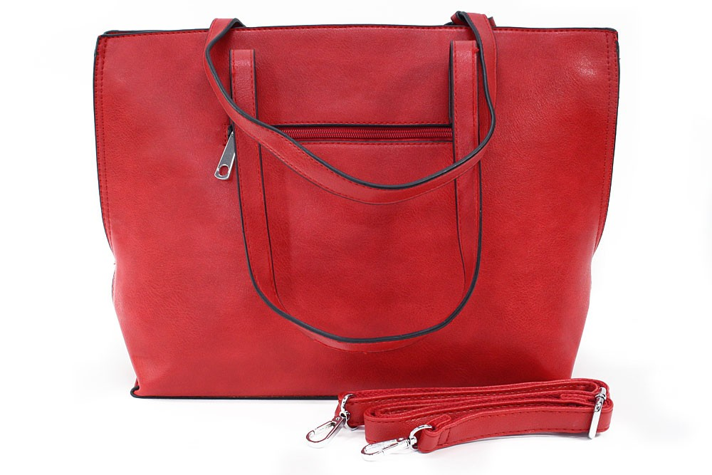 Červený dámský kabelkový set 2v1 Fifine