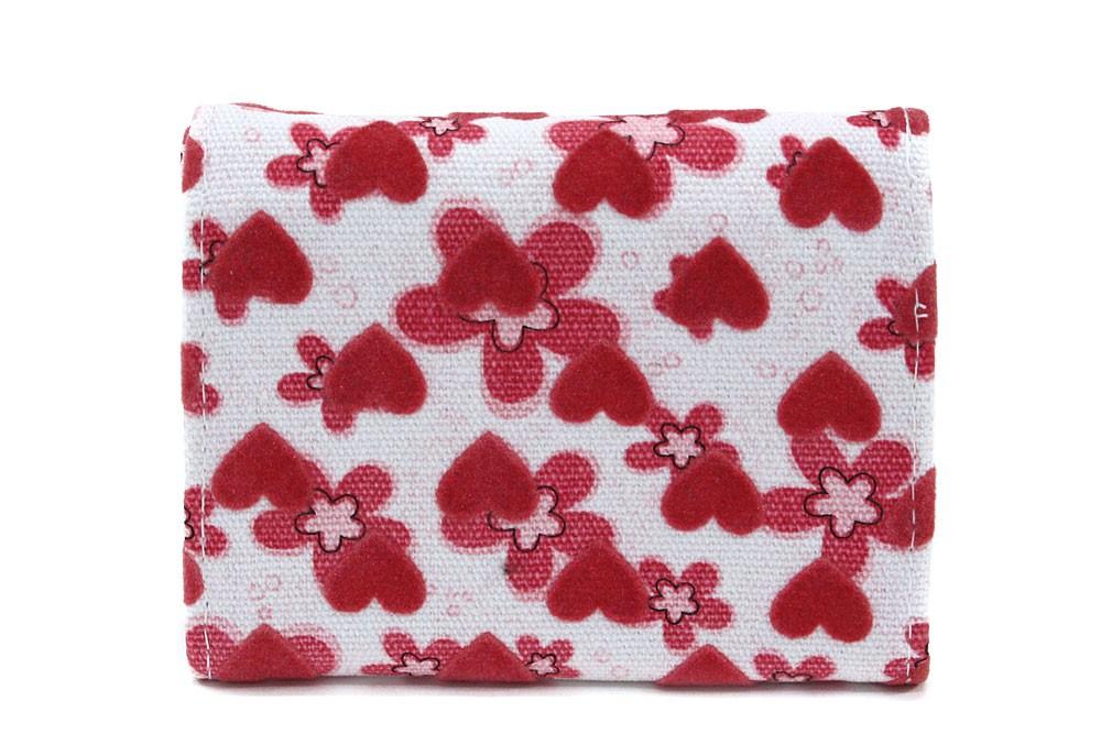 Růžovobílá dívčí peněženka s potiskem Mayne