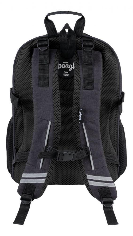 Černý zipový voděodolný školní batoh Delmore