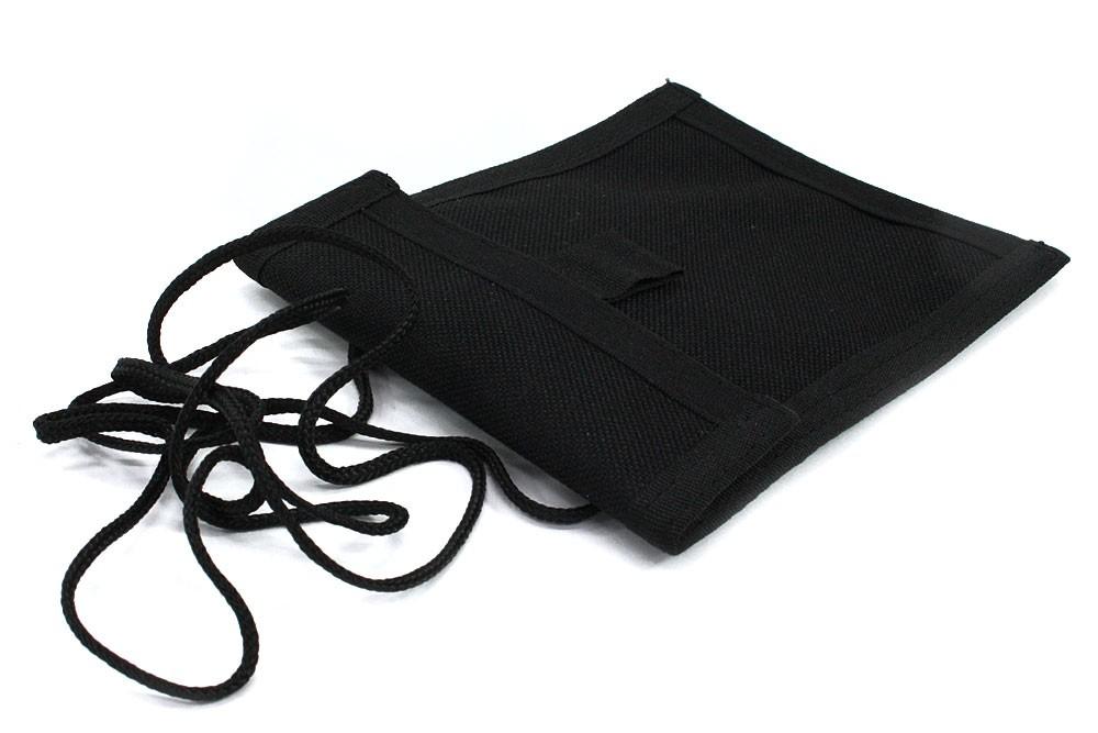 Černé textilní dětské pouzdro na krk Kaitlin
