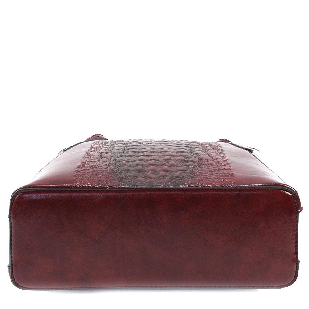Tmavě červená dámská zipová kabelka do ruky i přes rameno Emmitt
