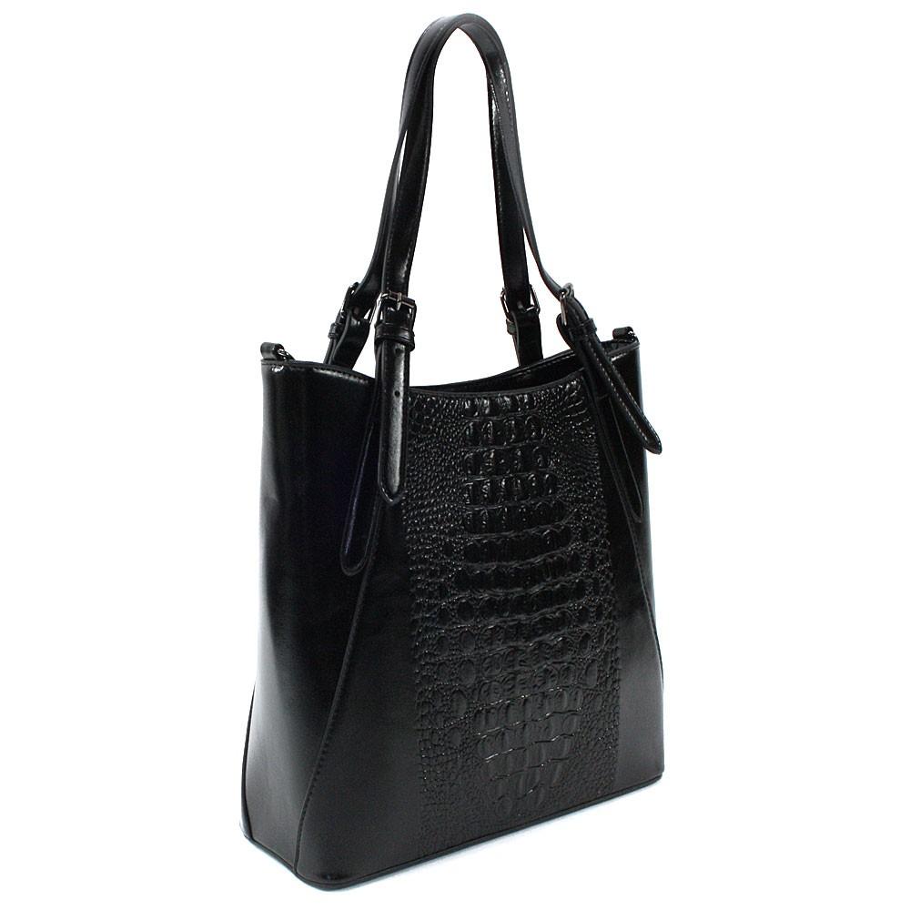 Černá dámská zipová kabelka do ruky i přes rameno Emmitt