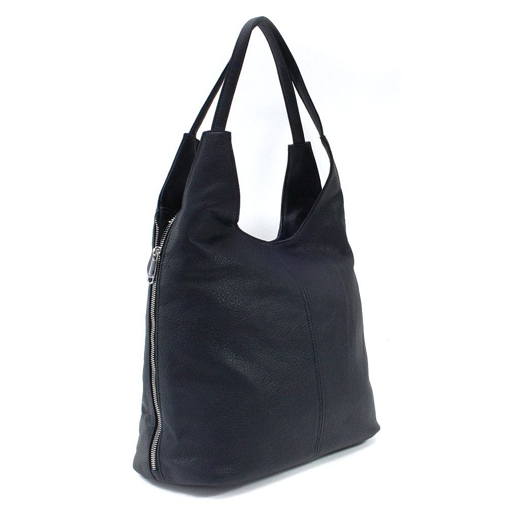 Tmavě modrá prostorná dámská kabelka Jessie