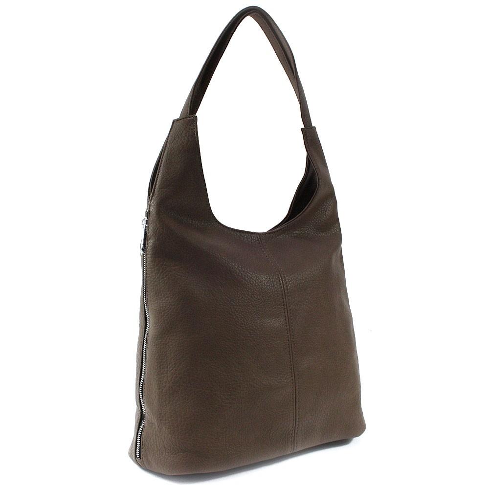 Tmavě hnědá prostorná dámská kabelka Jessie