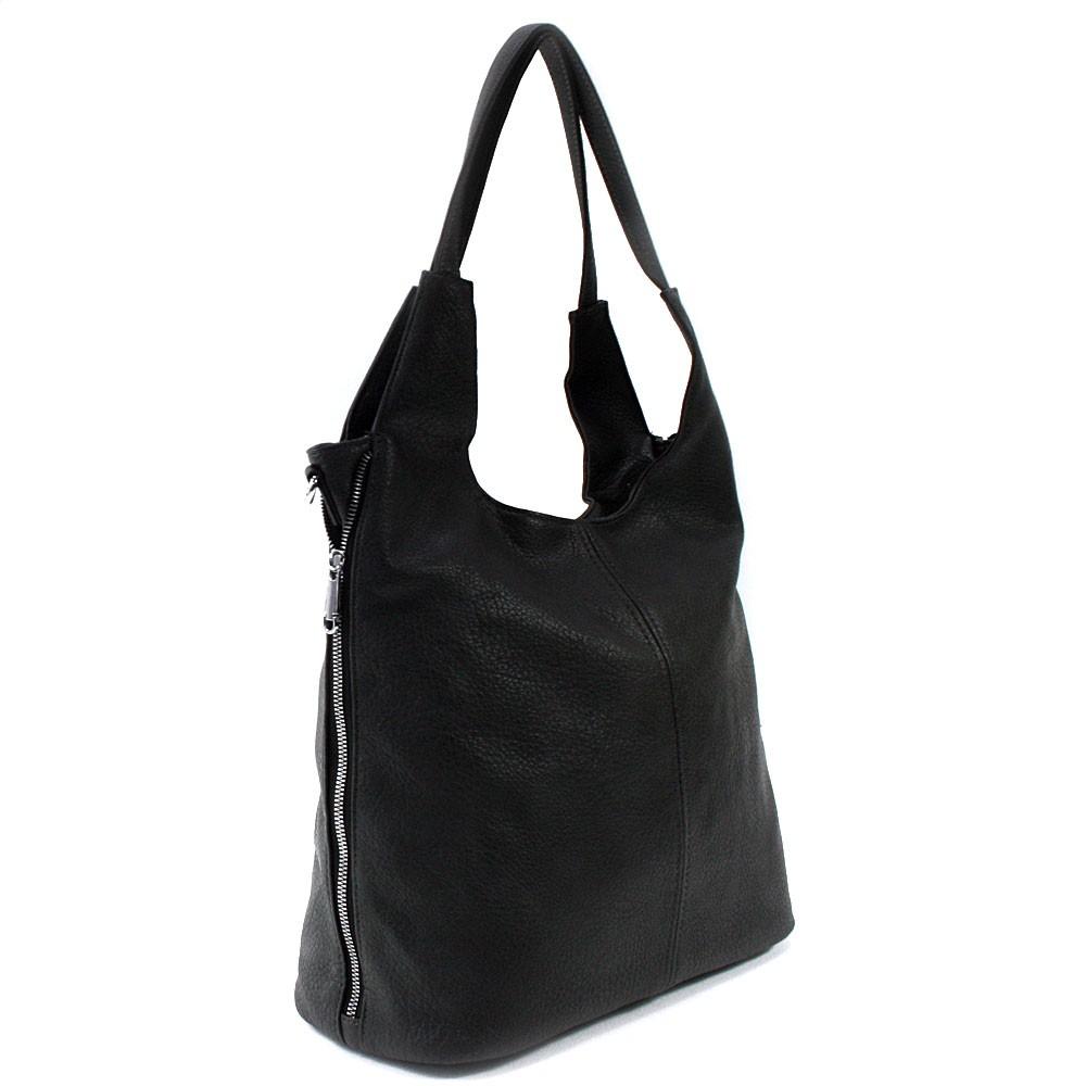 Černá prostorná dámská kabelka Jessie