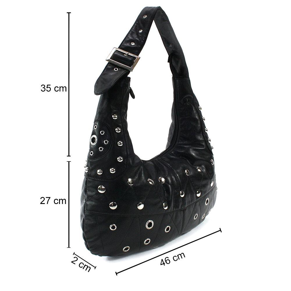 Černá netradiční dámská kabelka přes rameno Taylor