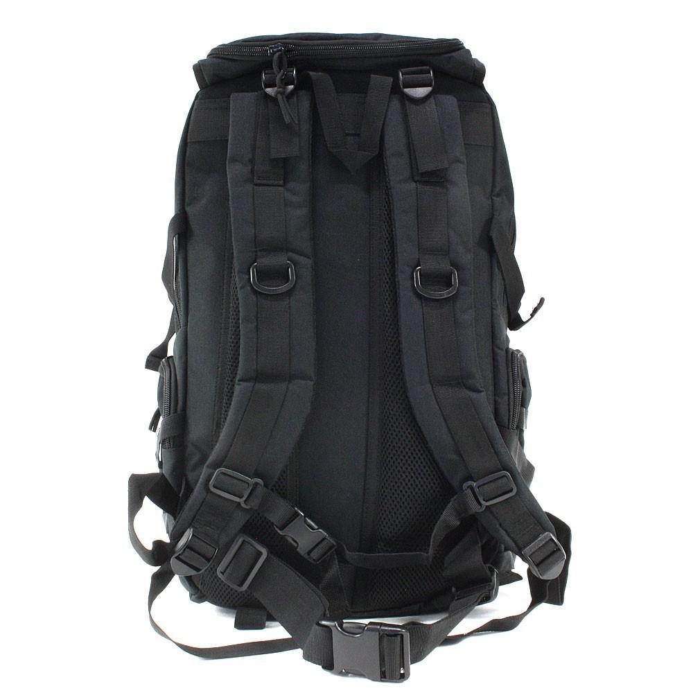 Černý prostorný outdoorový batoh/krosna Bentlee