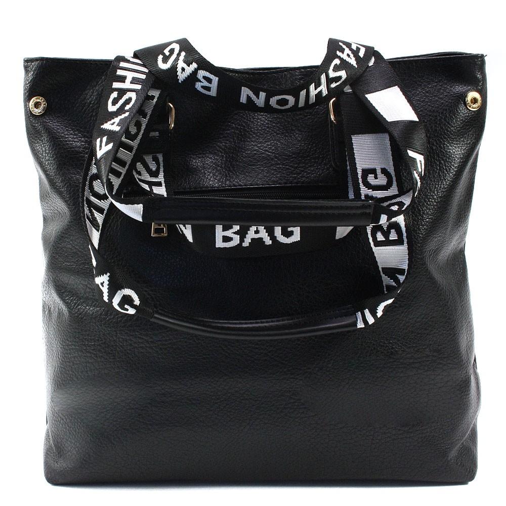Černá prostorná dámská zipová taška Arryn