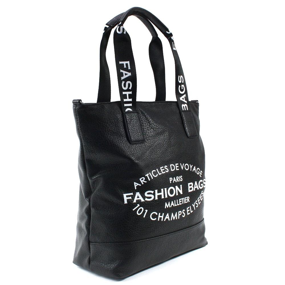 Černá prostorná dámská zipová taška Teige