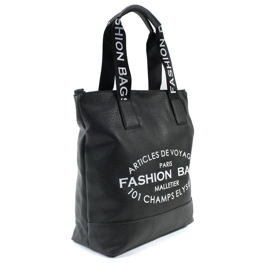 Tmavě šedá prostorná dámská zipová taška Teige