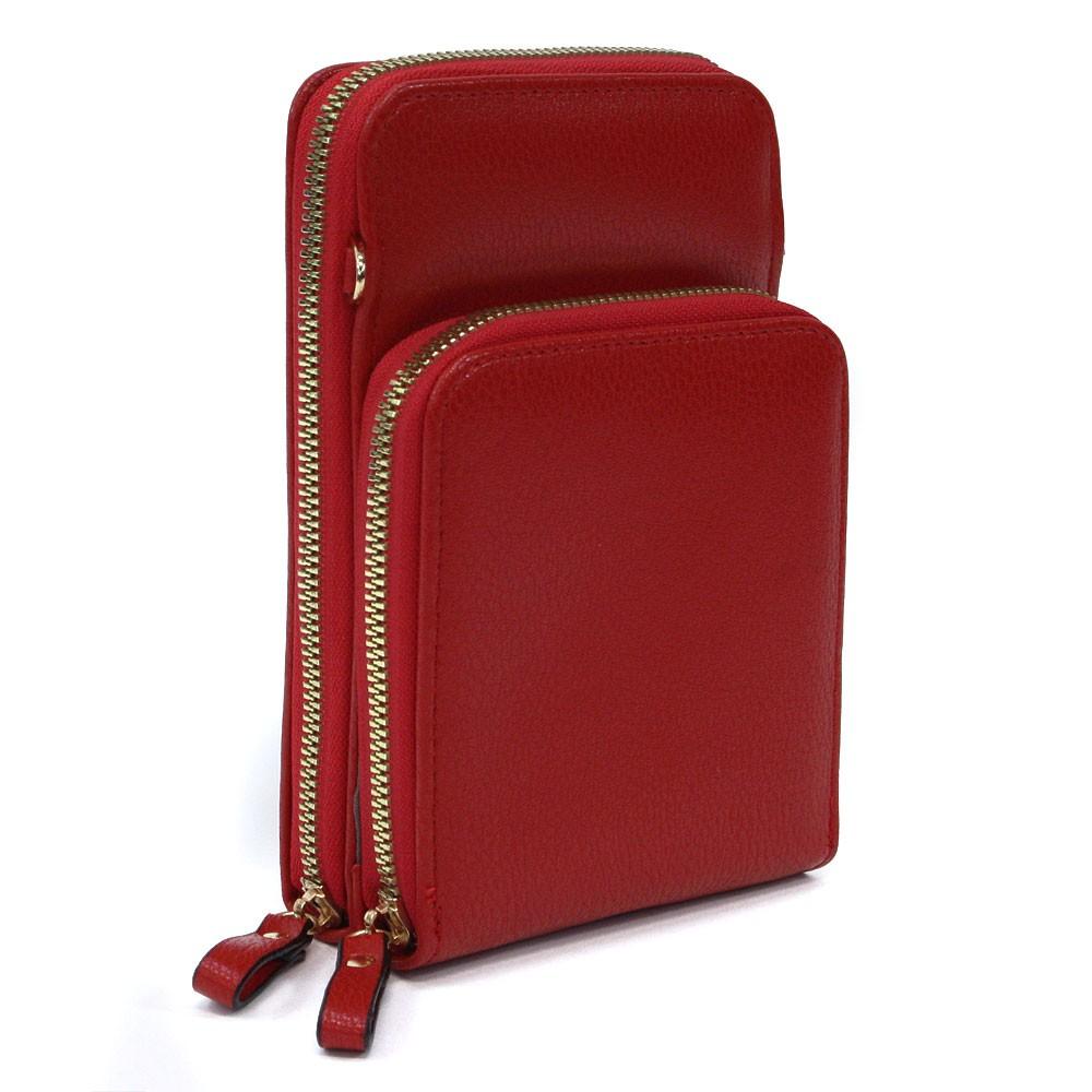 Červená zipová dámská kabelka přes tělo Sanford