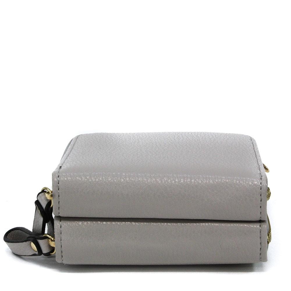 Světle šedá zipová dámská kabelka přes tělo Sanford
