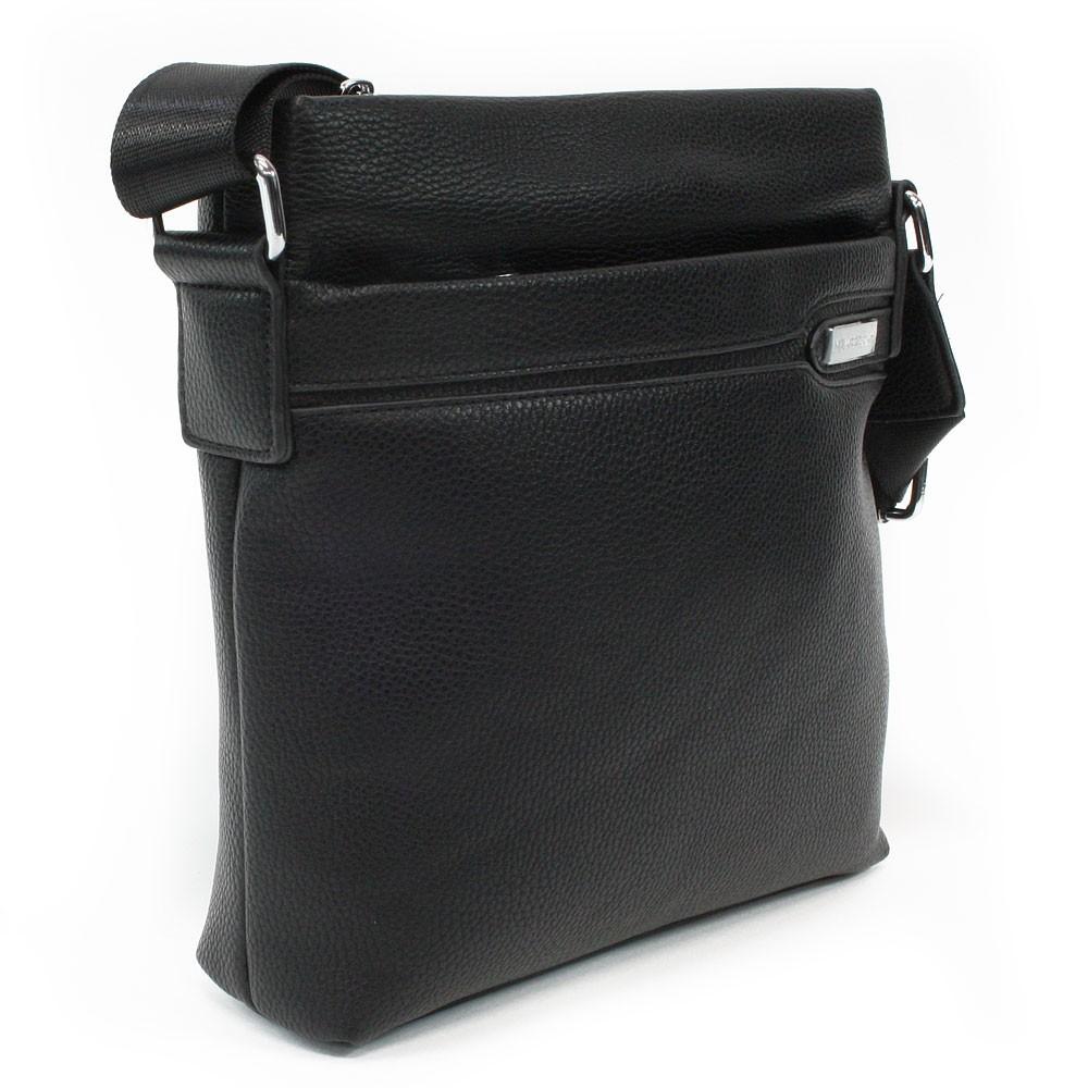Černá pánská zipová crossbody taška Bedivere