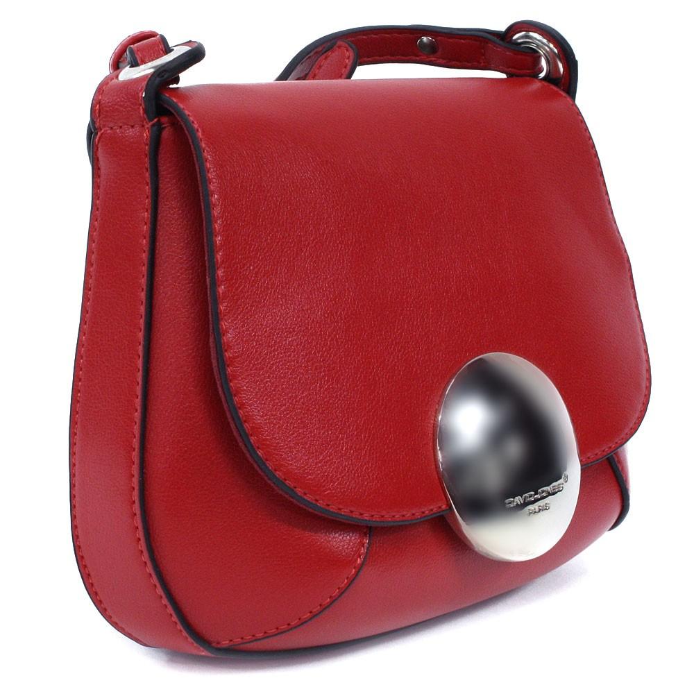 Červená klopnová dámská crossbody kabelka Hudde