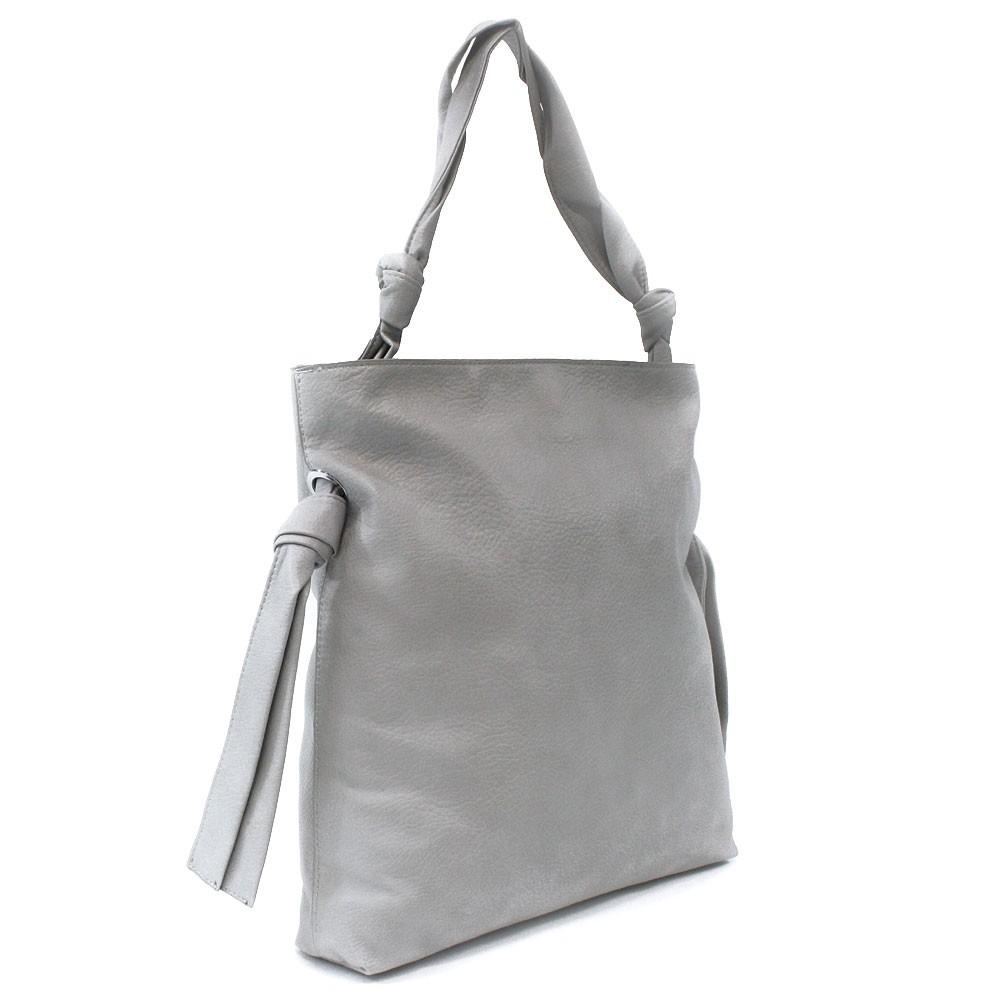 Světle šedá dámská zipová kabelka přes rameno Aryana