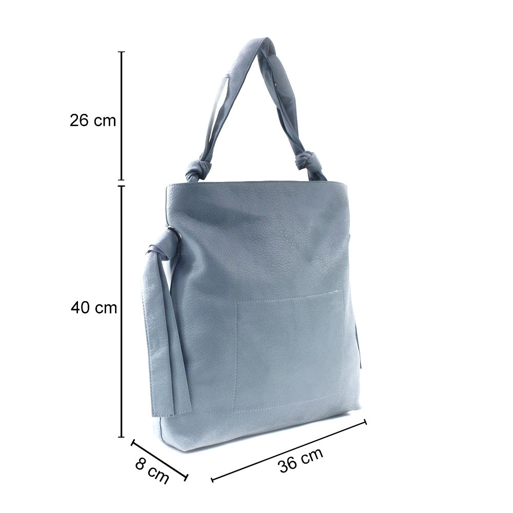 Světle modrá dámská zipová kabelka přes rameno Aryana