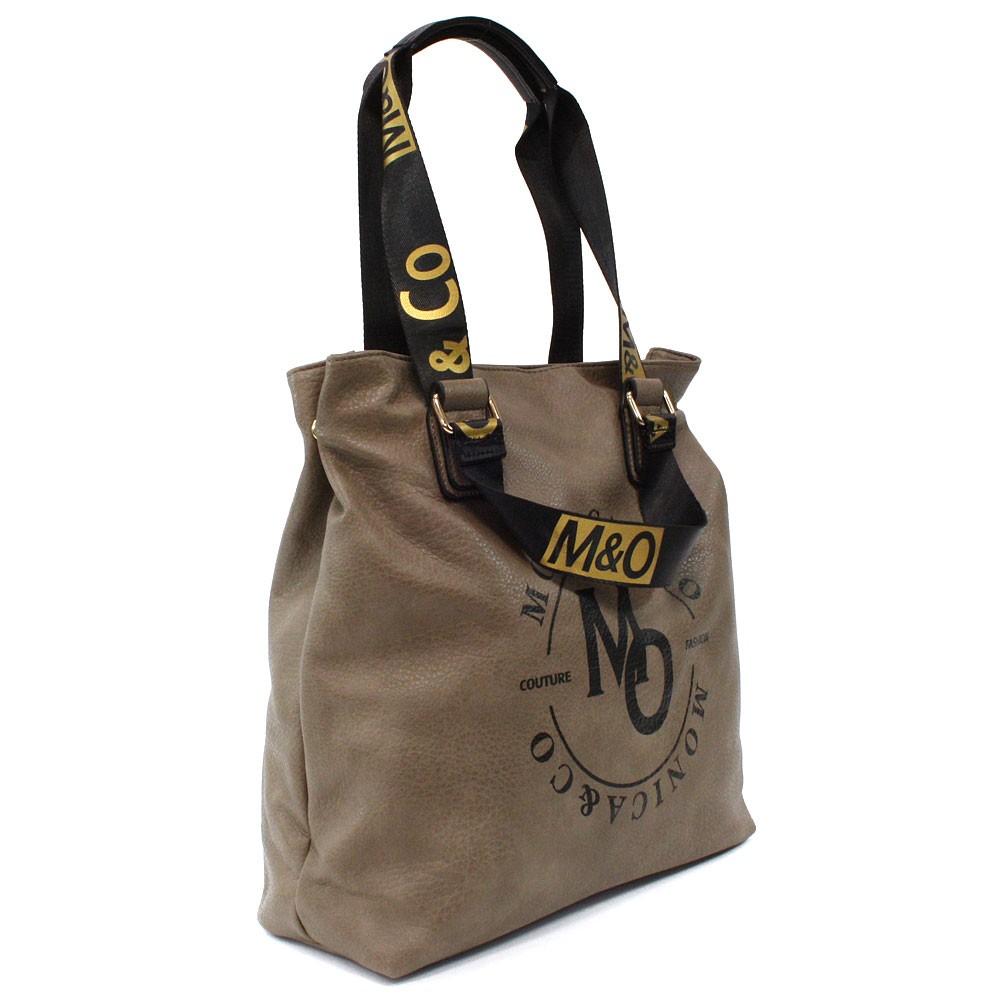 Tmavě hnědá prostorná dámská zipová taška Aria