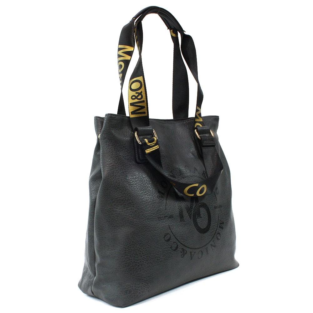 Tmavě šedá prostorná dámská zipová taška Aria