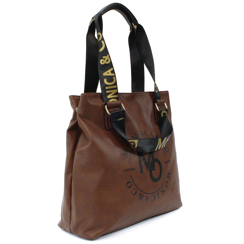 Hnědá prostorná dámská zipová taška Aria