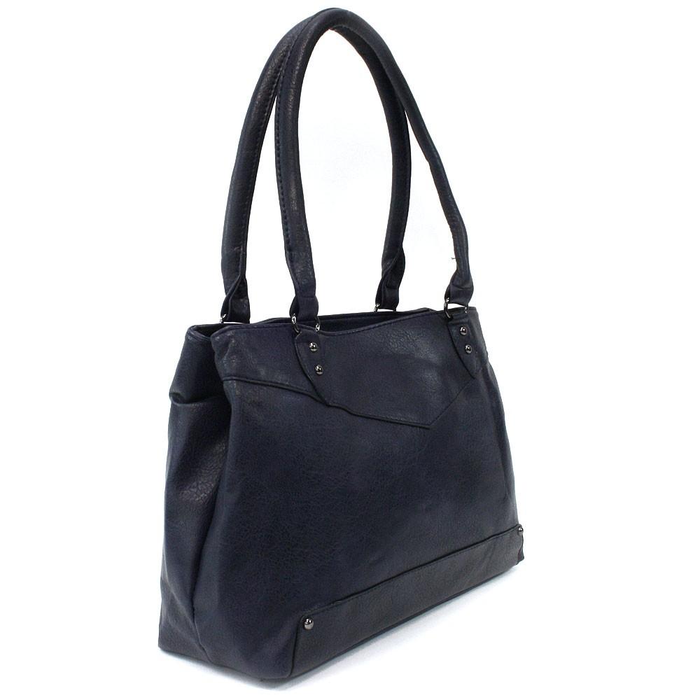 Tmavě modrá elegantní dámská zipová kabelka přes rameno Albaric