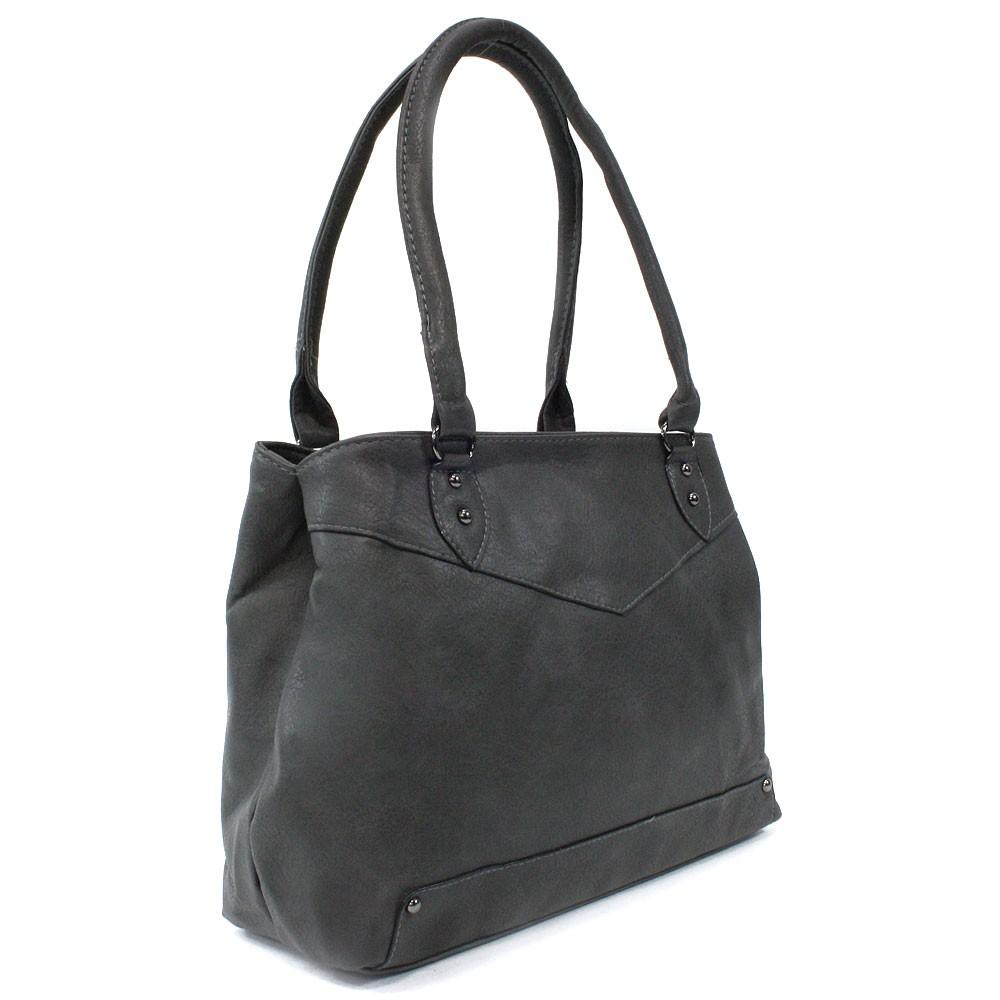 Tmavě šedá elegantní dámská zipová kabelka přes rameno Albaric
