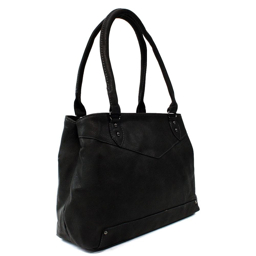 Černá elegantní dámská zipová kabelka přes rameno Albaric