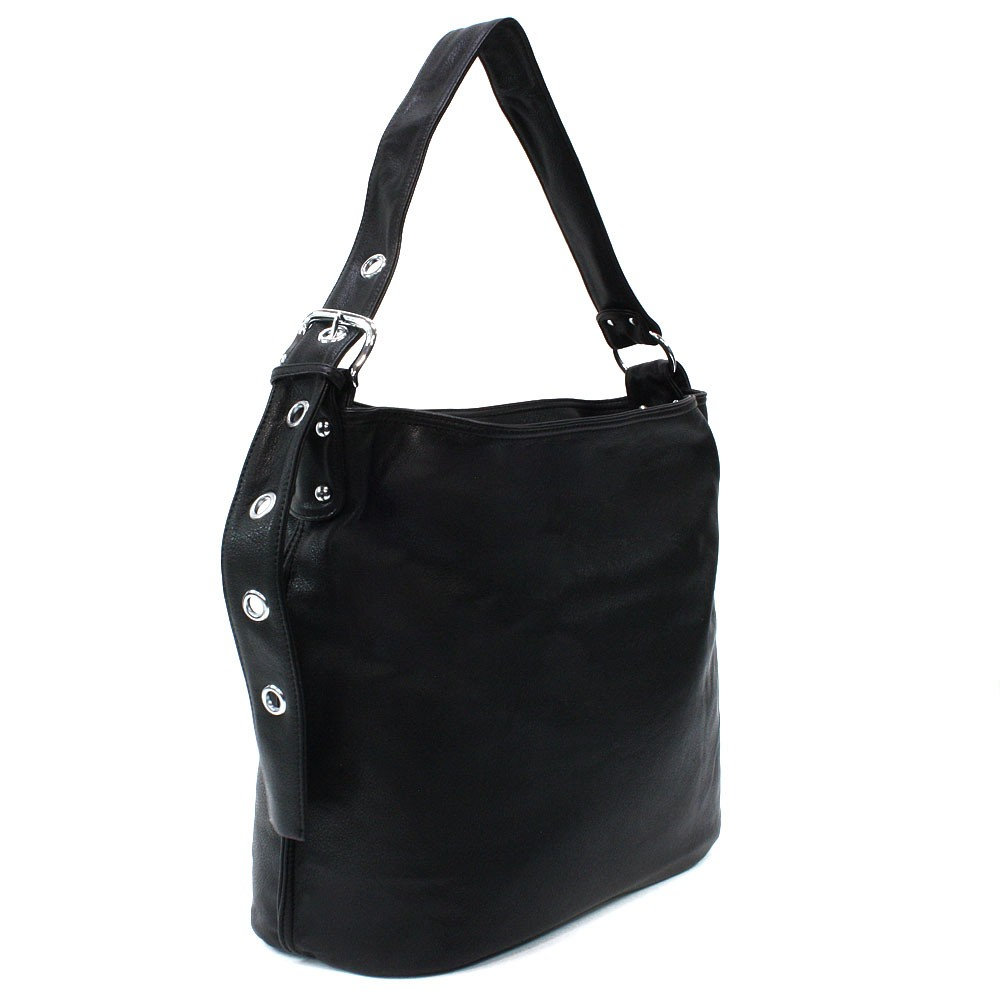 Černá dámská zipová kabelka do ruky i přes rameno Brylee