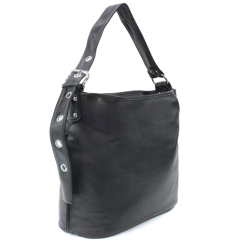 Tmavě šedá dámská zipová kabelka do ruky i přes rameno Brylee