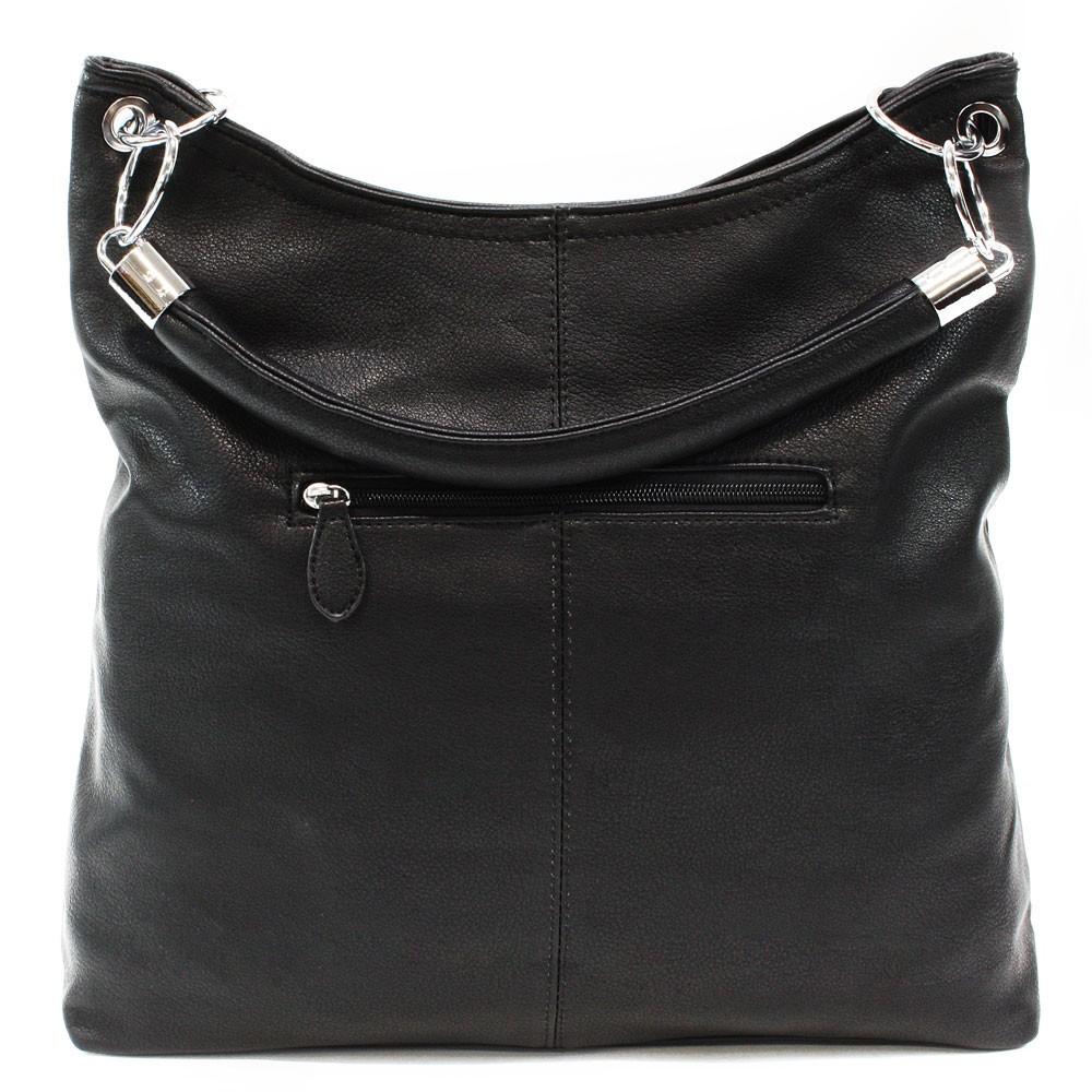 Černá moderní velká kabelka přes rameno Nathali