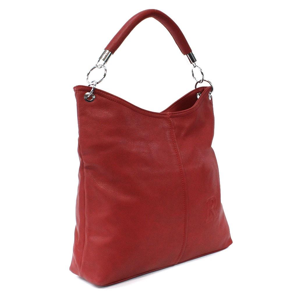Červená moderní velká kabelka přes rameno Nathali