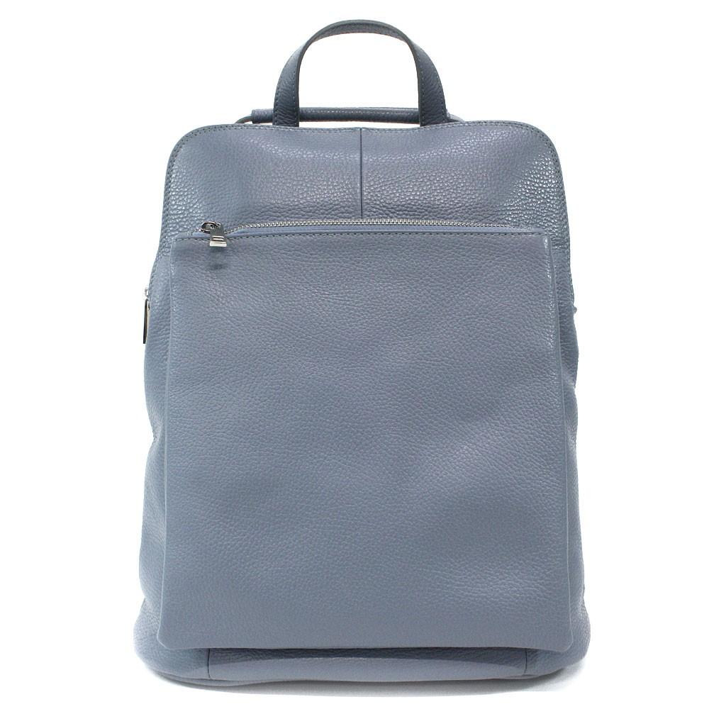 Světle modrý kožený dámský módní batůžek/kabelka Damarion